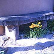 Stone Slab Bench 1 Art Print