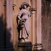 Stone Statue Woman  Art Print