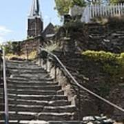 Stone Steps And Saint Peters Church At Harpers Ferry Art Print