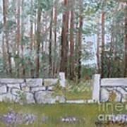 Stone Wall On Highland Ave Art Print