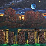 Stonehenge At Cathedral Rock Art Print