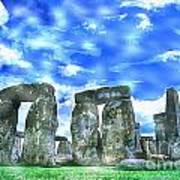 Stonehenge In The English County Of Wiltshire  Art Print