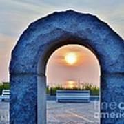 Sunrise Through The Arch - Rehoboth Beach Delaware Art Print