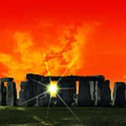 Stonehenge Solstice Art Print