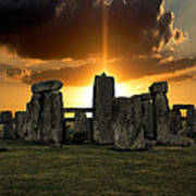 Stonehenge Wiltshire Uk Art Print