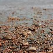 Stones And Waves At Beach  Art Print