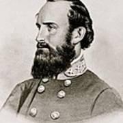 Stonewall Jackson Confederate General Portrait Art Print