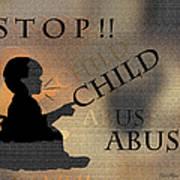 Stop Child Abuse Art Print
