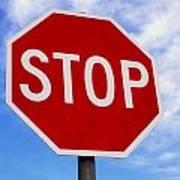Stop Sign Ireland Art Print