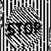 Stop Sign Maze Art Print