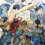 Stop The Draft Mural Berkeley Ca 1977 Art Print