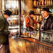 Store - Ah Customers Art Print by Mike Savad