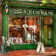 Store Front - Alexandria Va - The Creamery Art Print