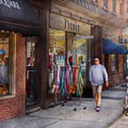 Store Front - Hoboken Nj - People Art Print