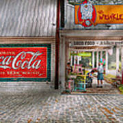 Store Front - Life Is Good Art Print by Mike Savad