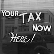 Storefront Sign, 1939 Art Print