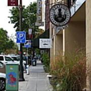 Storefronts In Historic Railroad Square Area Santa Rosa California 5d25806 Art Print