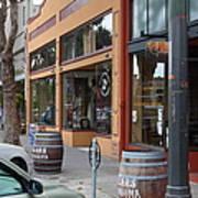 Storefronts In Historic Railroad Square Santa Rosa California 5d25804 Art Print by Wingsdomain Art and Photography