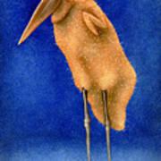 Stork Naked... Art Print