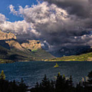 Storm Above St. Mary Lake Art Print