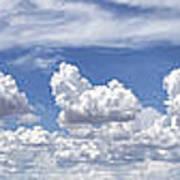 Storm Approaching Panorama Art Print