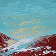 Storm At Red Rock Ridge Art Print