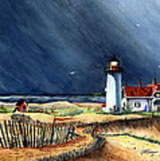 Storm At The Point Art Print