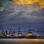 Storm Brewing Art Print by Marvin Spates