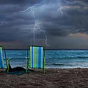 Storm Chairs Art Print