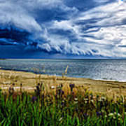Storm Clouds In Door County Art Print