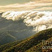 Storm Clouds Moving Out On The Blue Ridge Art Print