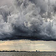 Storm Clouds Over Charleston South Carolina Art Print