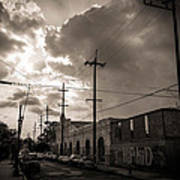 Storm Clouds Over Chartres Street In New Orleans.  Print by Louis Maistros