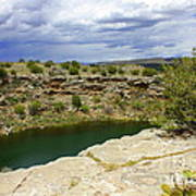 Storm Clouds Over Montezuma Well Art Print