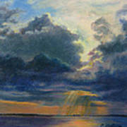 Storm Clouds Over P-town Art Print