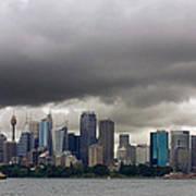 Storm Clouds Over Sydney Art Print