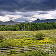 Storm Clouds Over The Rockies Art Print