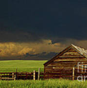 Storm Crossing Prairie 2 Art Print
