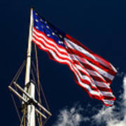 Storm Flag At Fort Mchenry Art Print