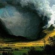 Storm In The Mountains Art Print
