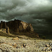 Storm In The Superstitions Art Print