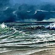 Storm Off Yucatan Mexico Art Print