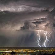 Storm Over Albuquerque Art Print