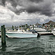 Storm Over Banks Channel Art Print by Phil Mancuso