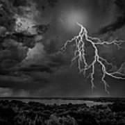 Storm Over Benbrook Lake Art Print