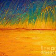 Storm Over Canola Field Art Print