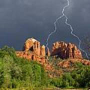 Storm Over Cathedral Rock Art Print