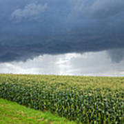 Storm Over Cornfield In Southern Germany Art Print
