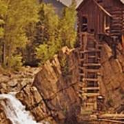 Storm Over Crystal Mill Art Print