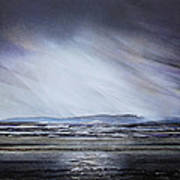 Storm Over Druridge Bay Northumberland 1 Art Print by Mike   Bell